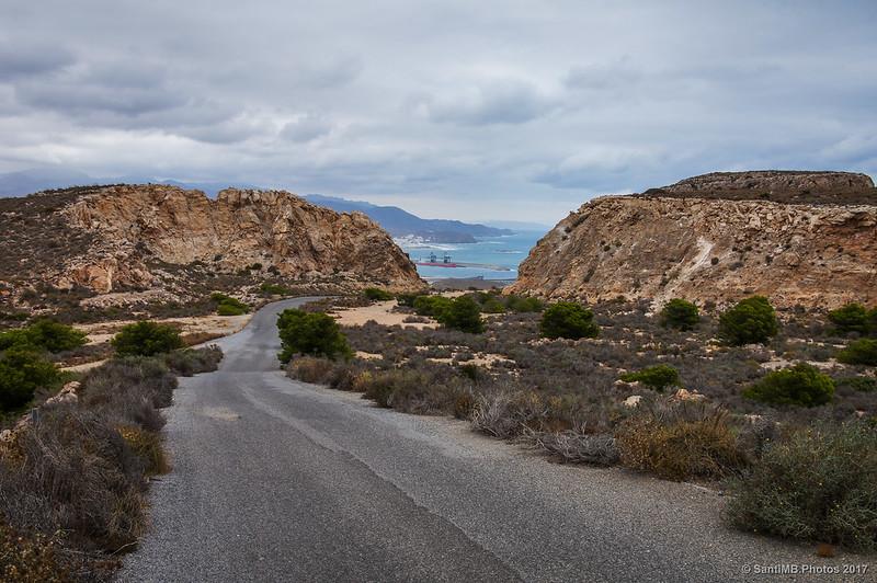 La costa de Carboneras desde la carretera del faro