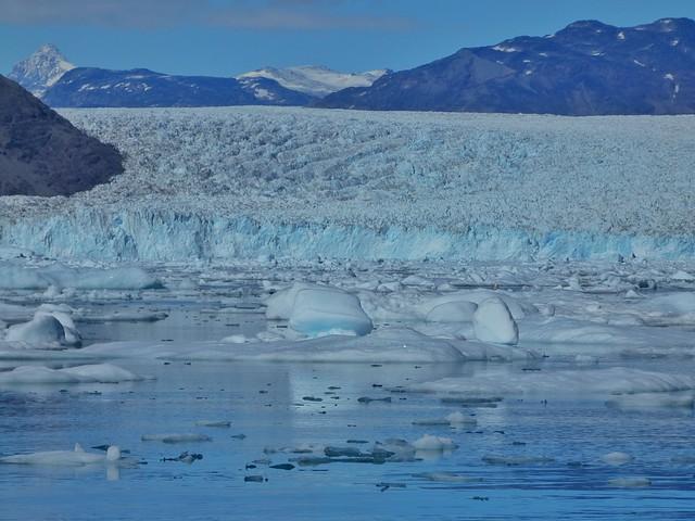 Glaciar Qoroq en el sur de Groenlandia