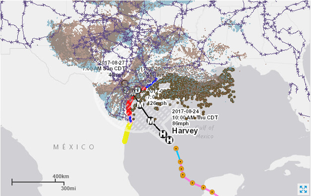 Map of track of Hurricane Harvey in Gulf of Mexico and Tex Flickr