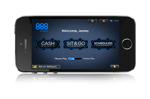 888 Poker iPad, iPhone