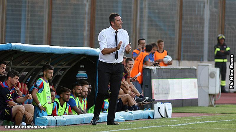 Cristiano Lucarelli nel corso del match di oggi