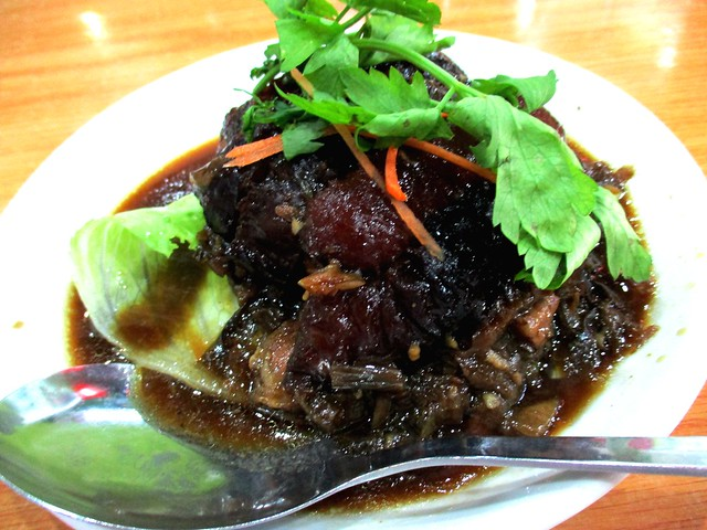 New Dragon Restaurant stewed pork belly with mui choy