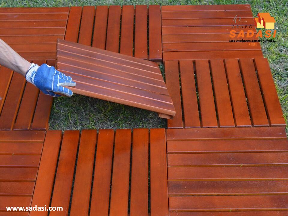 Utilice baldosas de madera para el piso exterior 2 flickr - Baldosa madera exterior ...