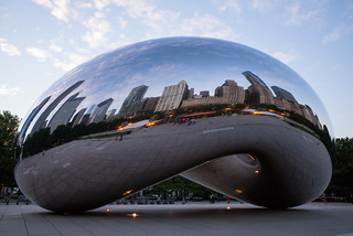 Chicago: Reflected in the Cloud Gate | by romanboed