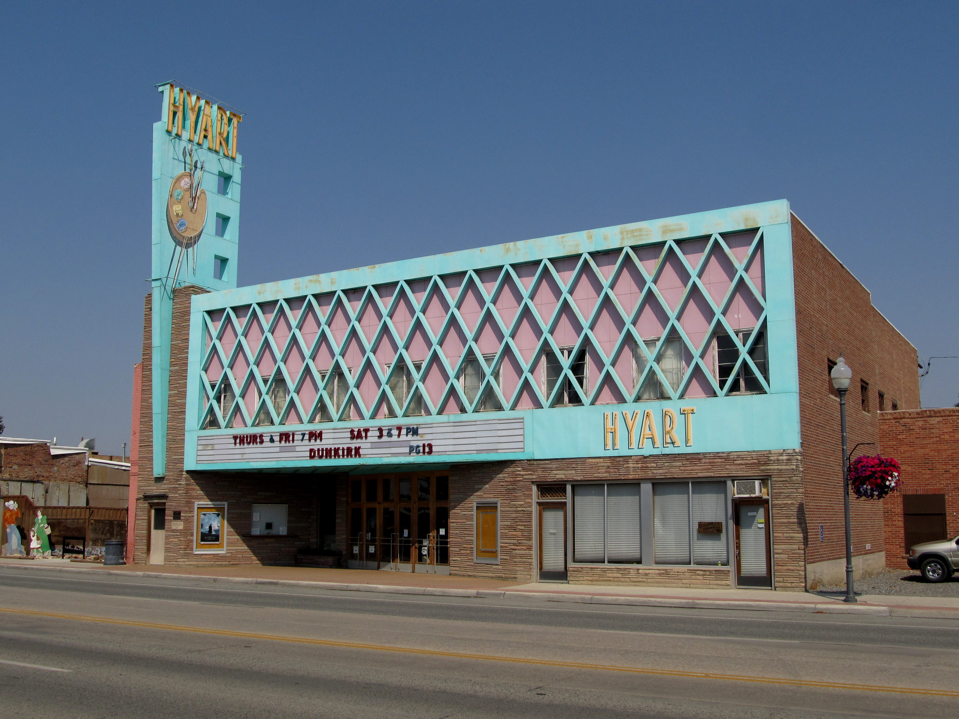 Hyart Theatre - 251 East Main Street, Lovell, Wyoming U.S.A. - August 28, 2017