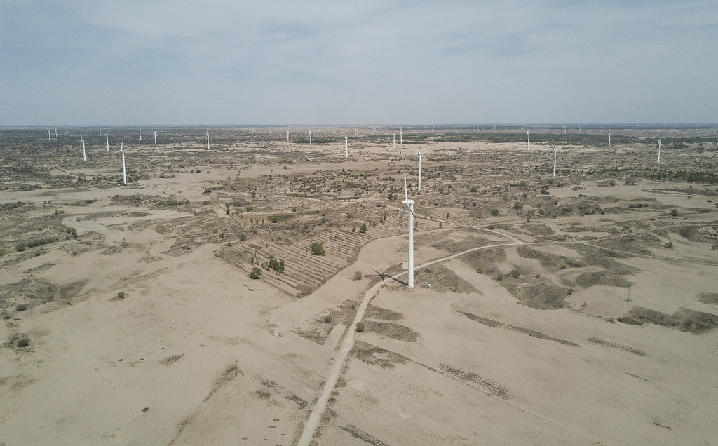 轉型後的阜新市進入了風電時代。到2016年底,全市風電累計併網裝置容量已達189萬瓩,佔整個遼寧省近30%。攝影:Stam Lee