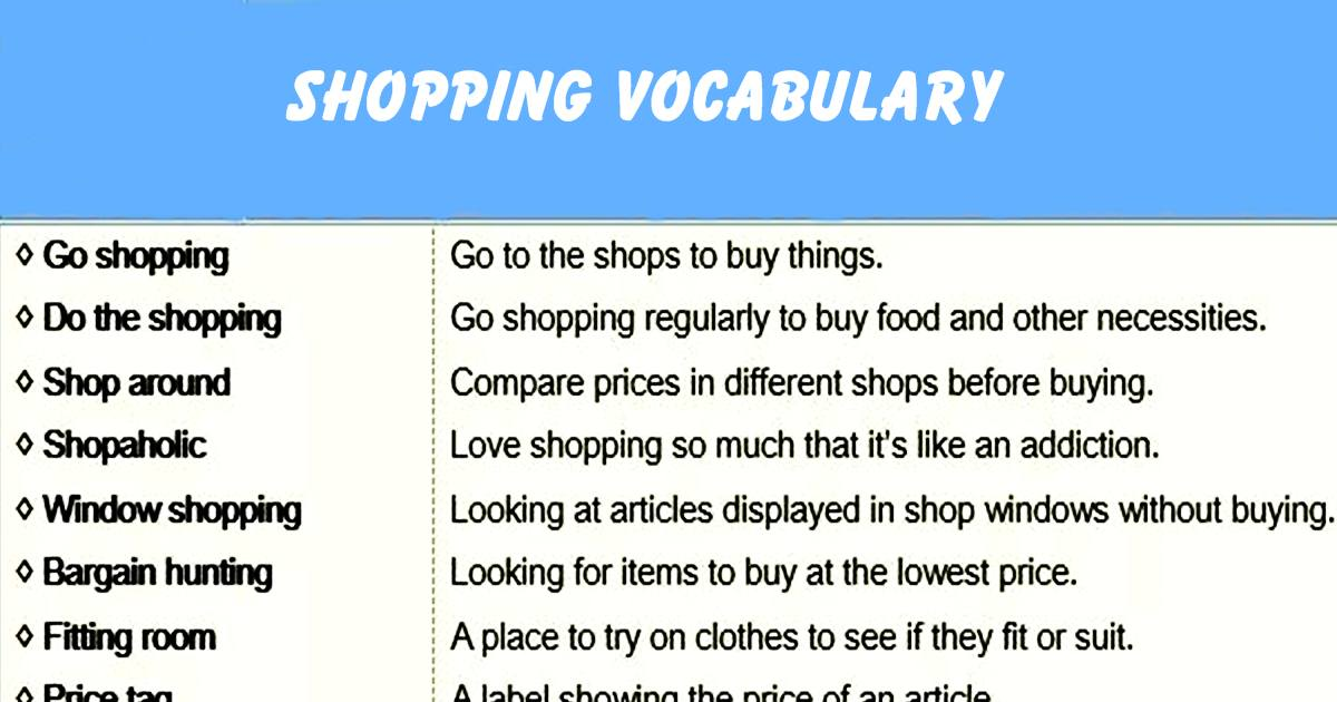 Useful Expressions & Phrases for Shopping 5