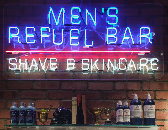 mens skincare shelf