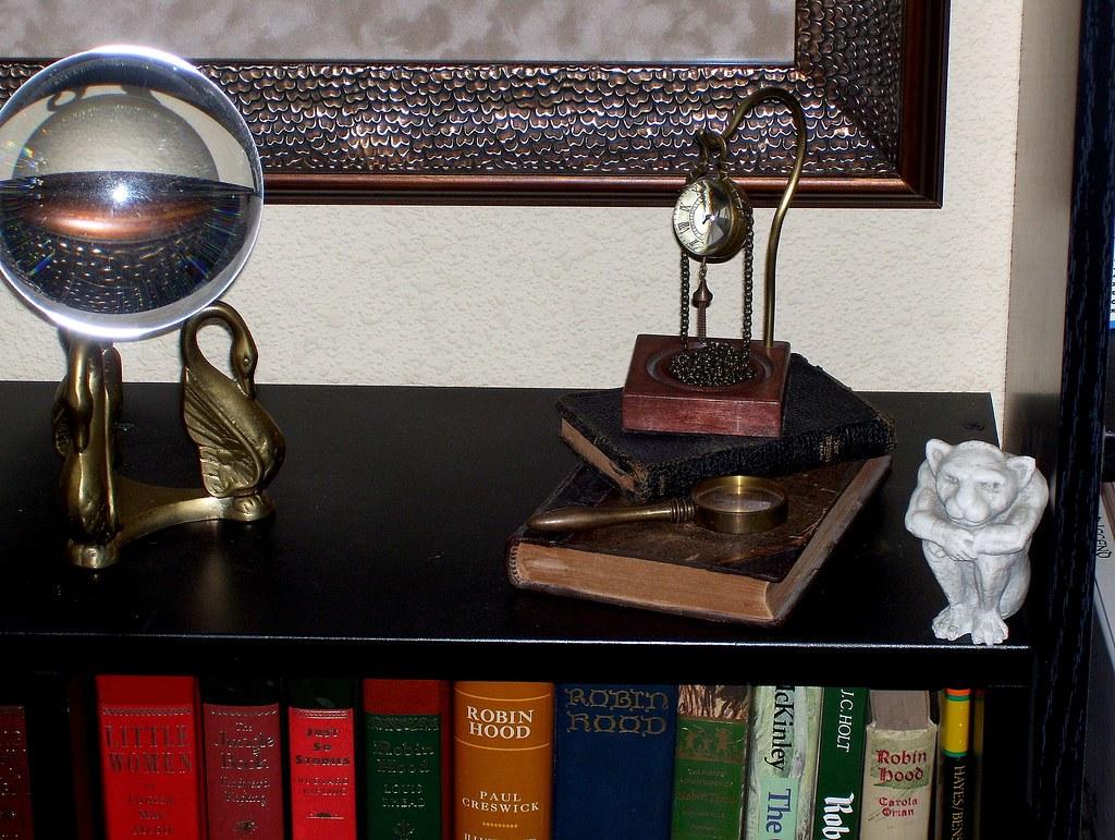 wee gargoyle, glass globes