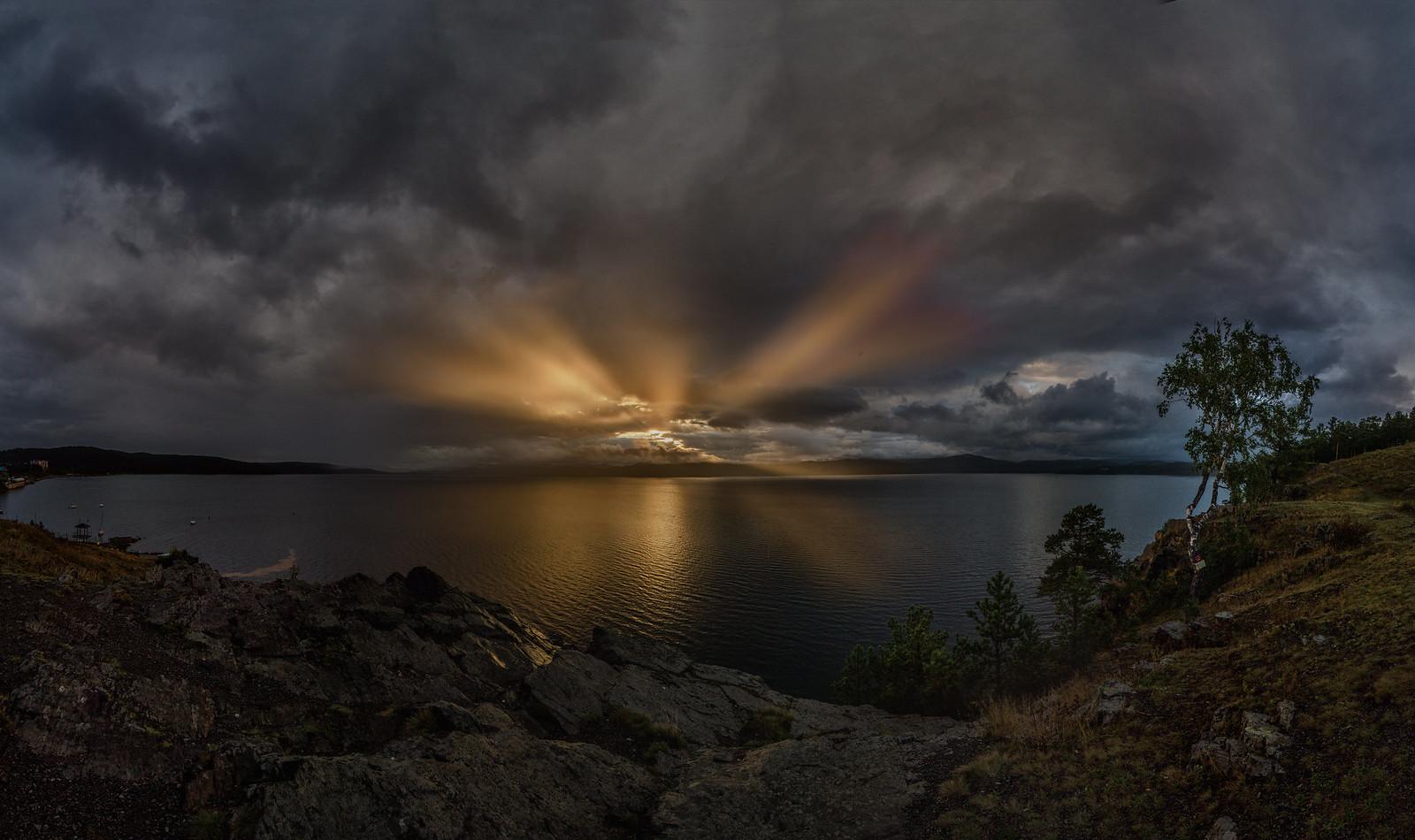 пейзаж, закат, Озеро Тургояк - фотограф Челябинск