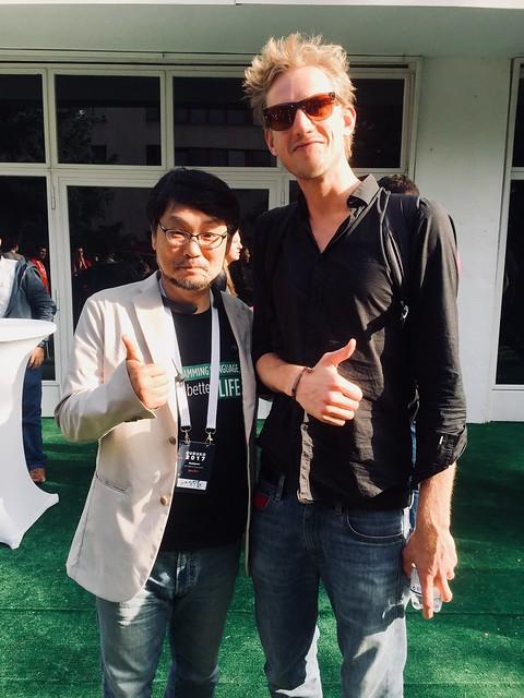Photo de David Leuliette développeur front-end avec Yukihiro Matsumoto