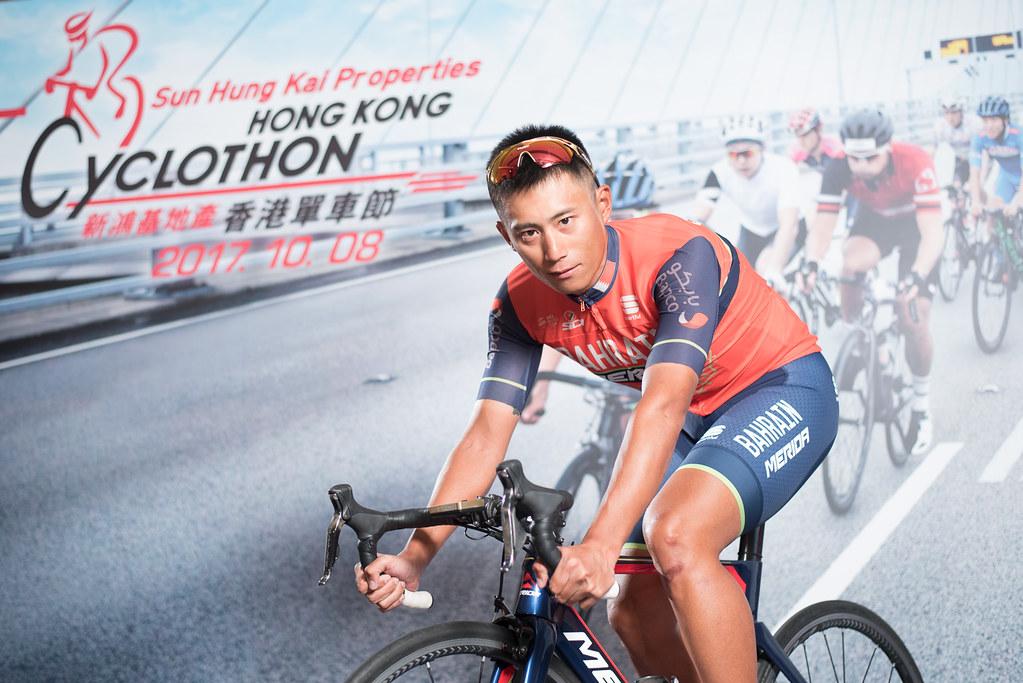 馮俊凱號召台灣車友一同參加2017香港單車節活動。(奧美提供)