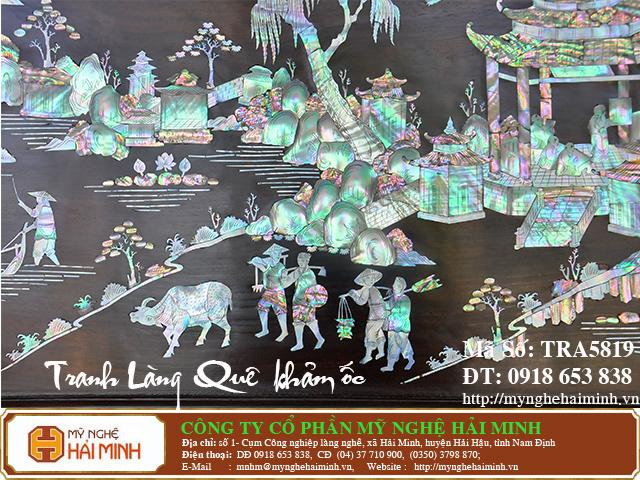 TRA5819f  Tranh Lang Que kham oc  do go mynghehaiminh