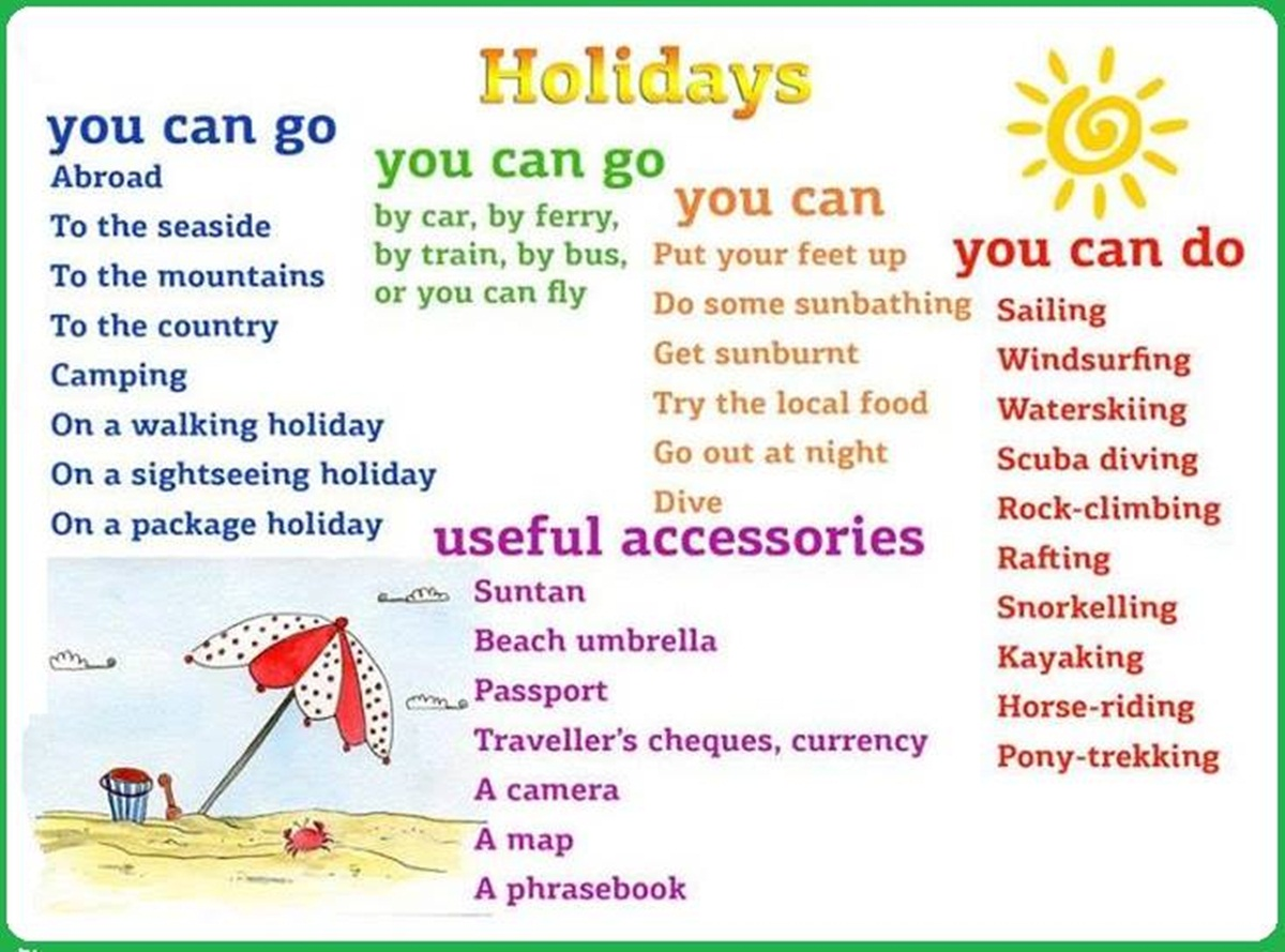 Words & Phrases You Can Use to Describe your Holidays … 3