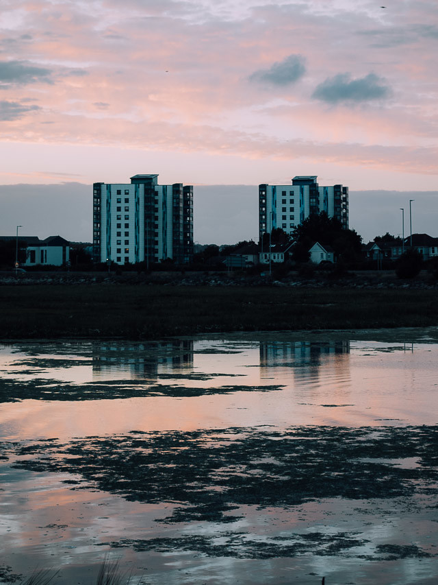 buildings opposide holes bay, poole