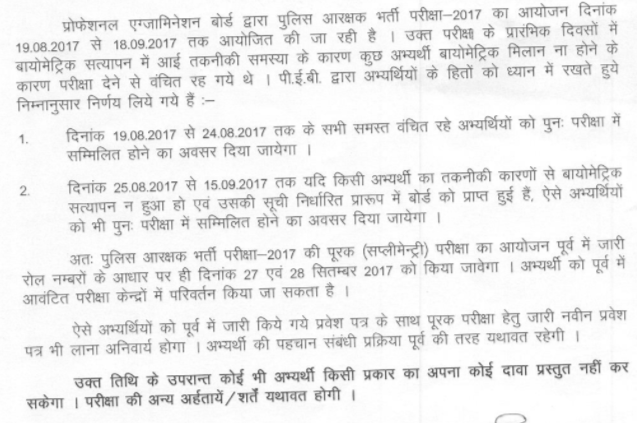 MP Police Constable Admit Card 2017 Released   Download Here