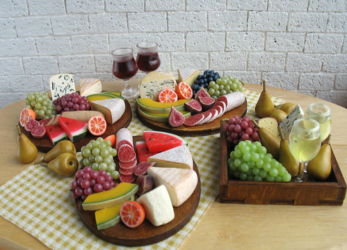 New Cheese & Fruits plate doll food 1:6 scale | by luckyjuliett