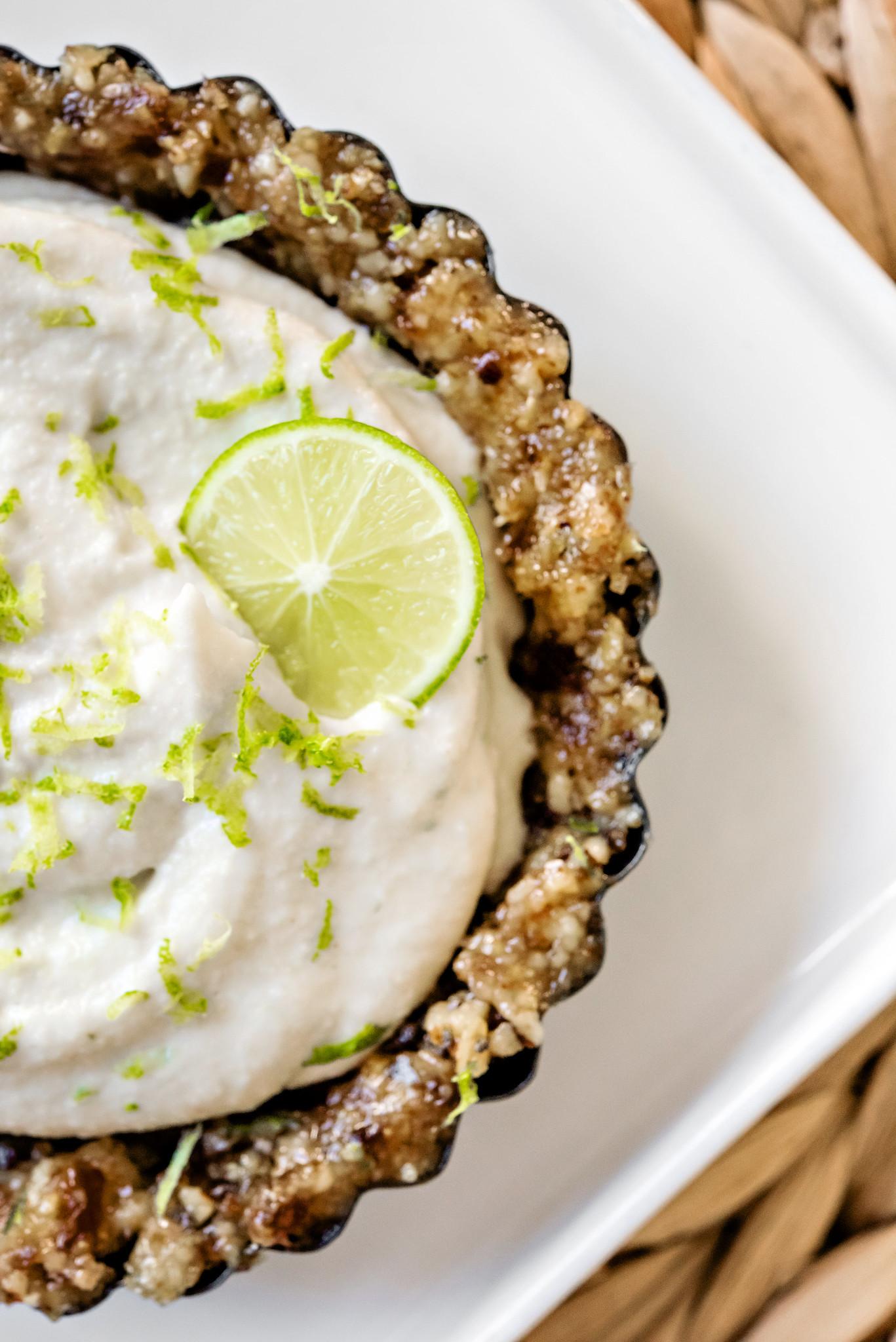vegan gluten-free key lime tarts