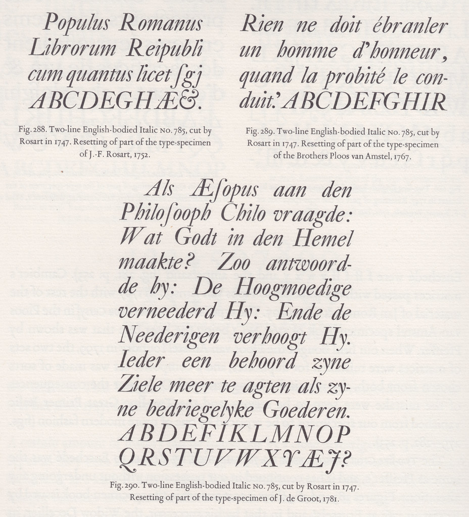 Two Line English Bodied Italic Scanned From Typefoundries Flickr