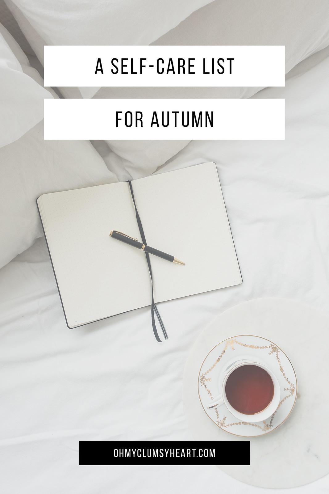 A Self-Care List For Autumn
