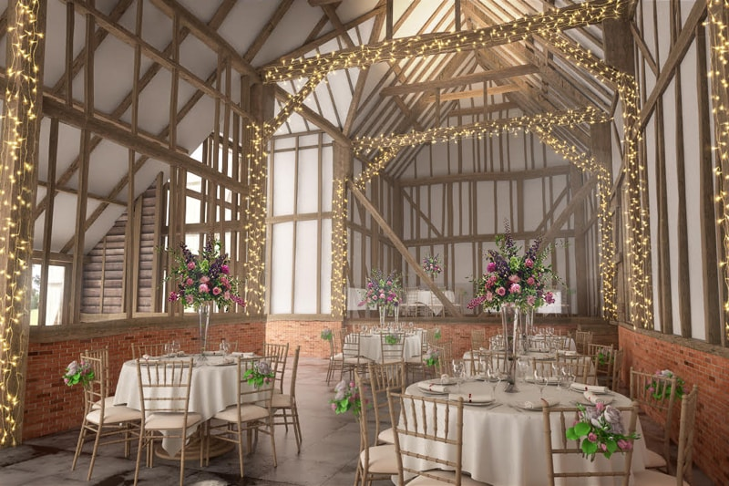 The Oak Barn - Frame Farm - receptions, weddings, corporate events, team building