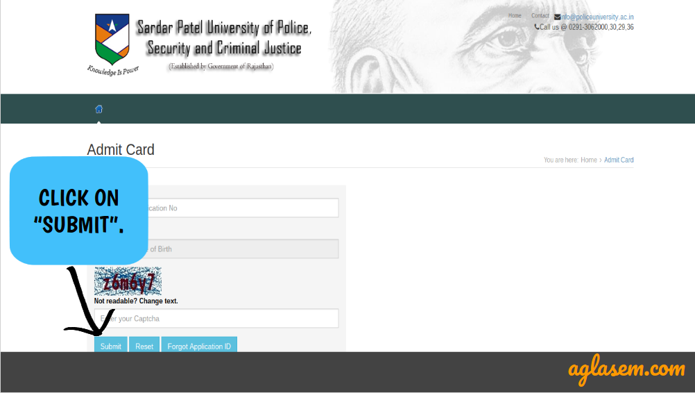 Rajasthan Jail Prahari Admit Card 2017 – Download From 20 August At policeuniversity.ac.in
