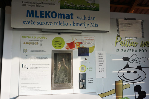 mlekomat milk vending machine in Ljubljana