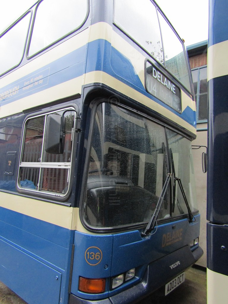 Delaine Buses - 136 - AD03OCT - UK-Indys20171387 | Company: … | Flickr