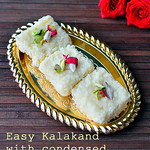 Kalakand recipe with condensed milk