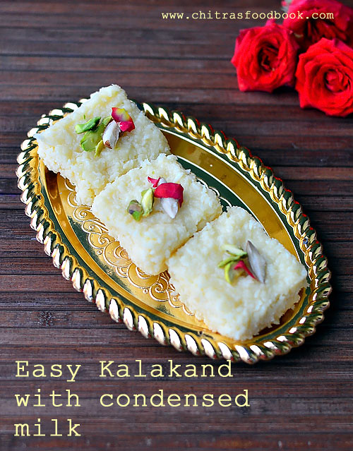 easy kalakand recipe