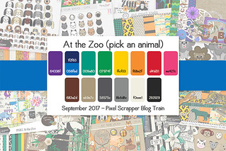September 2017 Pixel Scrapper Blog Train - At the Zoo | by Pixel Scrapper
