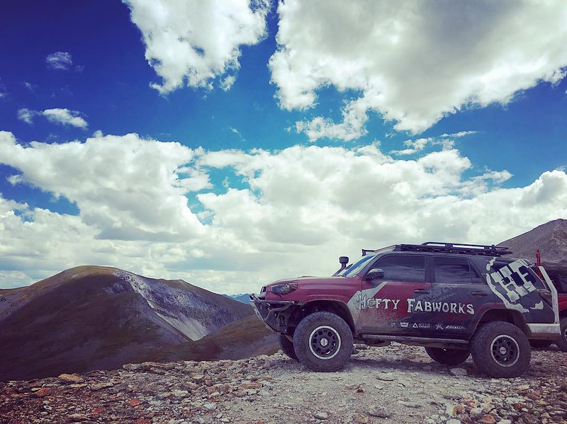 The Hefty Faborks 4Runner at over 13,000ft from Toytec Lifts