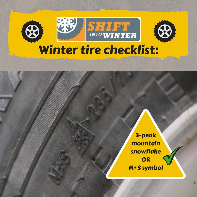 Winter Tire Checklist Ms Or Mountain Snowflake Drivers M Flickr