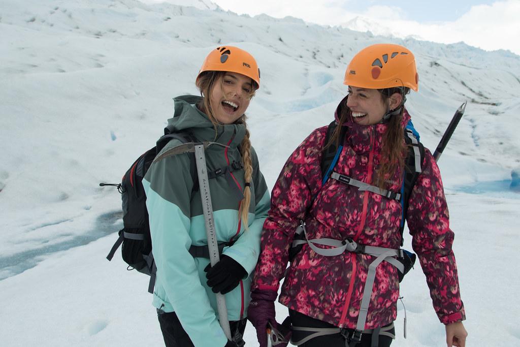 Walking in Grey Glacier in Torres del Paine