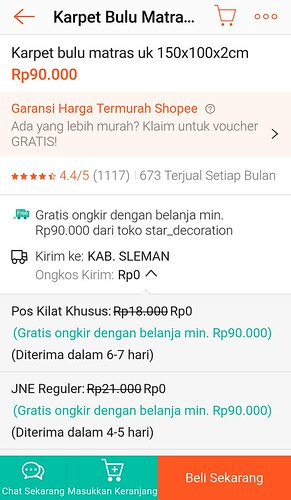 harga karpet shopee | by lajwania