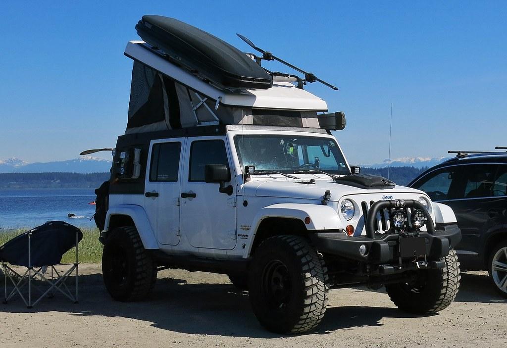 jeep jk wrangler unlimited pop up camper custom cab flickr. Black Bedroom Furniture Sets. Home Design Ideas