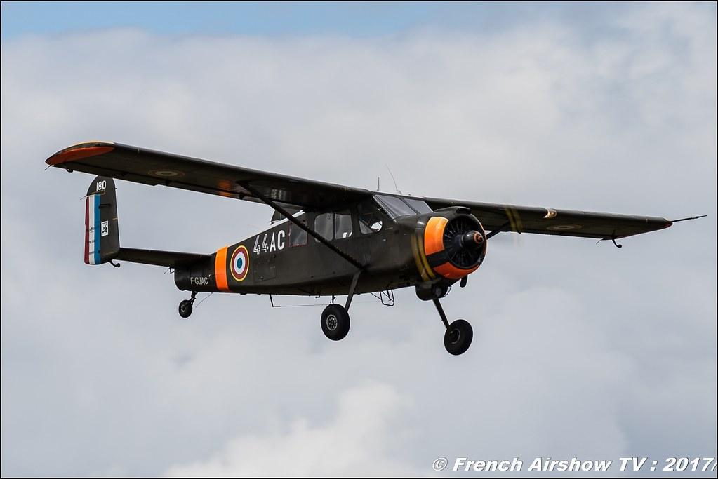 MH-1521C Broussard , F-GJAC , 44-AC , F-GFMN , Legend Air en Limousin 2017 , aérodrome de Saint Junien 2017 , Meeting Aerien 2017