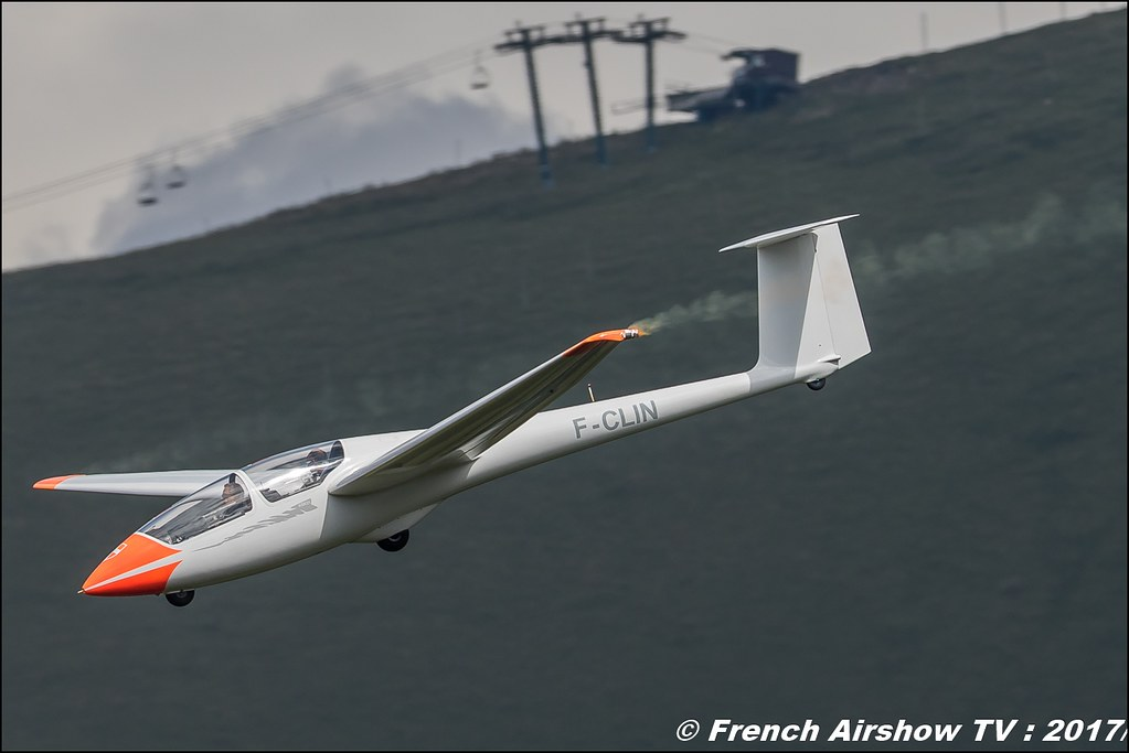 Planeur Voltige ASK21 F-CLIN Centre Savoyard de Vol à Voile Alpin (CSVVA) 50ans d'Aviation Megeve 2017 - altiport de Megève , Haute-Savoie, Auvergne-Rhône-Alpes , Meeting Aerien 2017