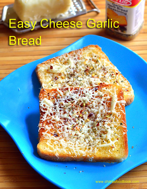 Cheese garlic bread recipe without oven