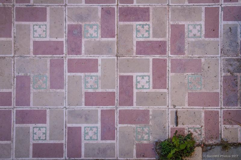 Mosaico del suelo de la Caserna dels Carrabiners