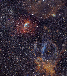 The Bubble Nebula & Lobster Claw Nebula | by Martin_Heigan