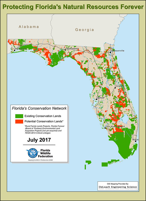 Protecting Florida's Natural Resources Forever Map