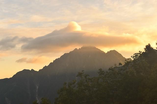 剱岳と笠雲