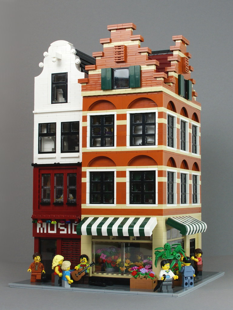 Lego Modular Buildings Flower Shop And Music Store Flickr