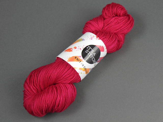 Favourite Sock – hand-dyed superwash merino 4 ply yarn 'Hot Thing'
