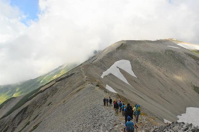 北アルプス・立山三山縦走 真砂岳登山