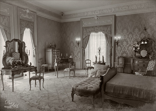 Image of a Master Bedroom at the Flagler Museum in Palm Beach, Florida