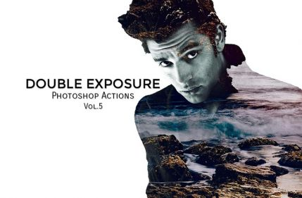 Double Exposure PS action – double exposure in action