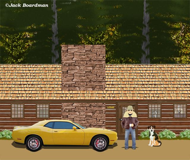 Outside the motel lodge ©Jack Boardman