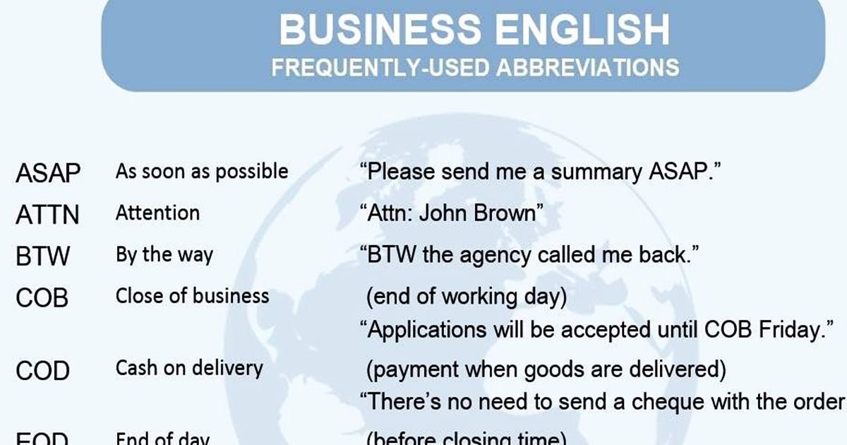Abbreviations in English 5
